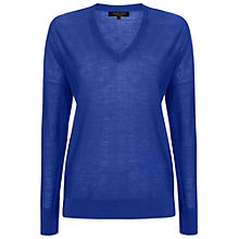 Buy Jaeger Oversized Merino Wool V Neck Sweater Online at johnlewis.com