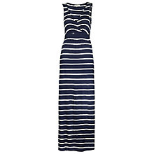 Buy Fat Face Bea Wrap Chevron Stripe Maxi Dress, Navy Online at johnlewis.com