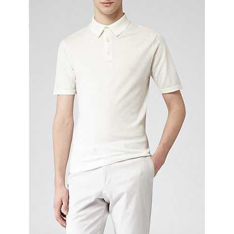 Buy Reiss Hewitt Knitted Cotton Polo Shirt Online at johnlewis.com