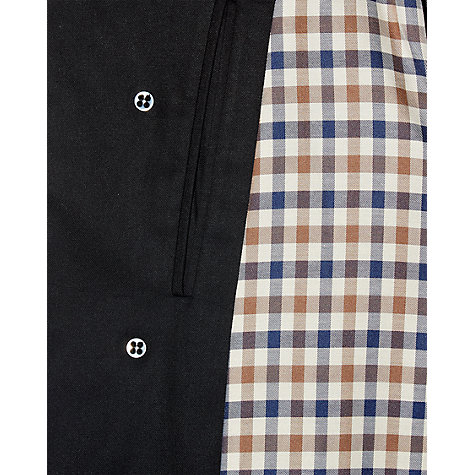Buy Aquascutum Broadgate Raincoat, Black Online at johnlewis.com