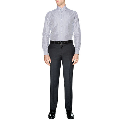 Buy Aquascutum Striped Hazelwood Long Sleeve Shirt, Blue Online at johnlewis.com
