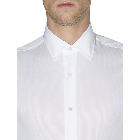 Buy Aquascutum Fraser Long Sleeve Shirt, White Online at johnlewis.com
