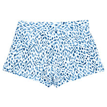 Buy Jigsaw Junior Girls' Batik Print Resort Shorts, Blue Online at johnlewis.com