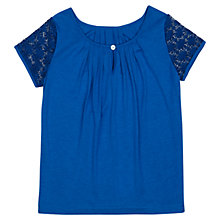 Buy Jigsaw Junior Girls' Lace Sleeve T-Shirt Online at johnlewis.com