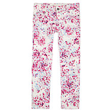 Buy Jigsaw Junior Girls' Floral Skinny Jeans, Dusty Pink Online at johnlewis.com