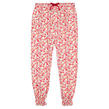 Buy Jigsaw Junior Girls' Painted Floral Trousers, Red Online at johnlewis.com