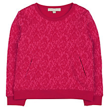 Buy Jigsaw Junior Girls' Jacquard Sweatshirt Online at johnlewis.com