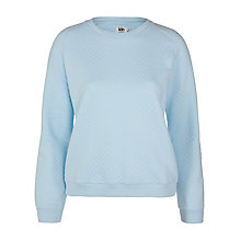Buy Kin by John Lewis Quilted Sweatshirt, Light Blue Online at johnlewis.com