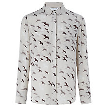 Buy COLLECTION by John Lewis Swallow Print Silk Blouse, Multi Online at johnlewis.com