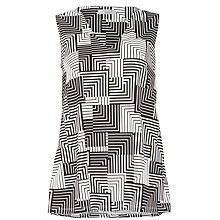 Buy COLLECTION by John Lewis Printed V-Neck Top, Black Online at johnlewis.com