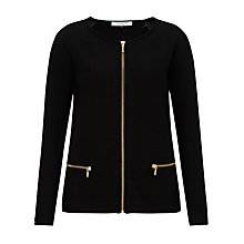 Buy COLLECTION by John Lewis Basket Weave Knitted Cardigan, Black Online at johnlewis.com