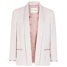 Buy Reiss Open Front Violet Jacket, Lavender Mist Online at johnlewis.com