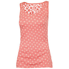 Buy Fat Face Ditsy Vest, Tea Rose Online at johnlewis.com