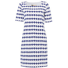 Buy Boutique by Jaeger Stripe Flower Breton Dress, White / Blue Online at johnlewis.com