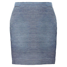 Buy Jigsaw Stripe Denim Mini Skirt, Blue Online at johnlewis.com