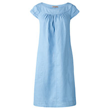Buy Jigsaw Medium Weight Linen Shift Dress, Blue Online at johnlewis.com
