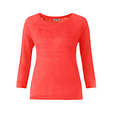 Buy Jigsaw Raglan Sleeve Linen Top Online at johnlewis.com