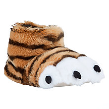 Buy John Lewis Tiger Claw Slippers, Orange Online at johnlewis.com