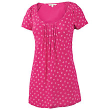 Buy Fat Face Selsey Textured Ditsy T-Shirt, Cerise Online at johnlewis.com