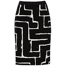 Buy Jaeger Zig Zag Pencil Skirt, Black / Ivory Online at johnlewis.com