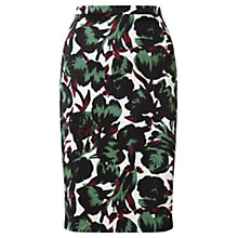 Buy Jigsaw Tulip Print Skirt, Green Online at johnlewis.com