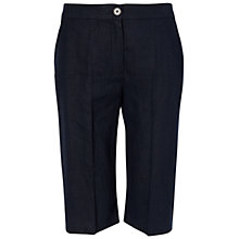 Buy Jaeger Linen Shorts, Navy Online at johnlewis.com