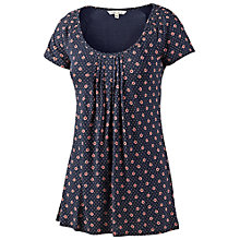 Buy Fat Face Selsey Dotty Tile T-Shirt, Navy Online at johnlewis.com