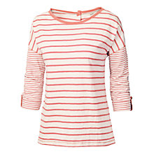 Buy Fat Face Button Stripe Back T-Shirt Online at johnlewis.com