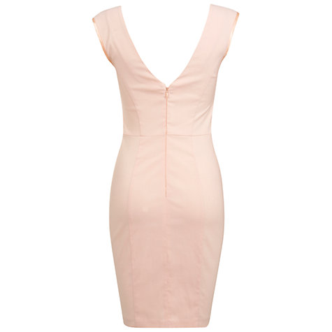 Buy Miss Selfridge Stretch Sequin Bodycon Dress, Nude Online at johnlewis.com