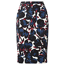 Buy Jigsaw Paint Tulip Pencil Skirt, Navy Online at johnlewis.com