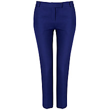 Buy Jaeger Pique Trousers, Electric Purple Online at johnlewis.com