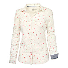 Buy Fat Face Classic Fit Scattered Bird Shirt, Ivory Online at johnlewis.com