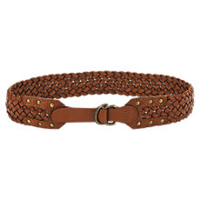 Buy Jigsaw Montpelier Leather Waist Belt, Tan Online at johnlewis.com