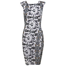 Buy Miss Selfridge Rose Floral Print Bodycon Dress, Multi Online at johnlewis.com