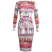 Buy Miss Selfridge Linear Print Bodycon Dress, Multi Online at johnlewis.com