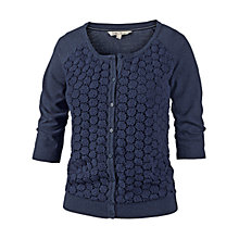 Buy Fat Face Lace Front Cardigan, Blue Online at johnlewis.com