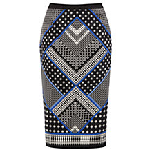 Buy Oasis Scarf Print Pencil Skirt, Multi Online at johnlewis.com