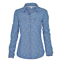 Buy Fat Face Classic Fit Denim Print Shirt, Denim Online at johnlewis.com