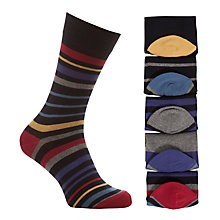 Buy John Lewis Colour Twist Stripe Socks, Pack of 5, Multi Online at johnlewis.com