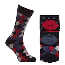 Buy John Lewis Triple Pattern Socks, Pack of 3 Online at johnlewis.com