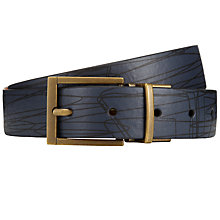 Buy Orla Kiely Abstract Print Reversible Leather Belt Online at johnlewis.com