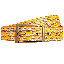 Buy Orla Kiely Yacht Print Reversible Leather Belt, Yellow Online at johnlewis.com
