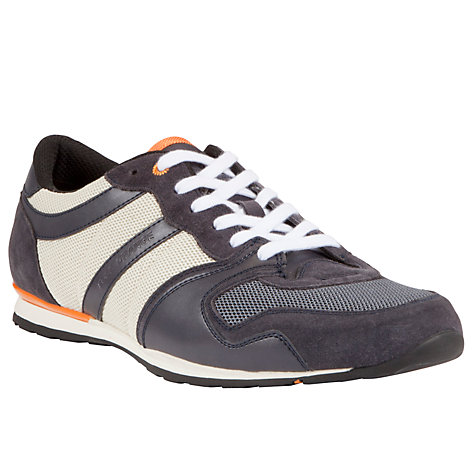 Buy BOSS Orlisten Retro Trainers, Navy Online at johnlewis.com