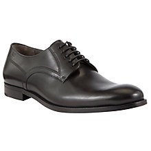 Buy BOSS Dession Leather Derby Shoes, Black Online at johnlewis.com