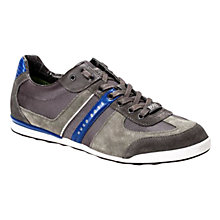 Buy BOSS Akeen Suede Trainers, Grey/Blue Online at johnlewis.com