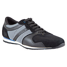 Buy BOSS Orlisten Suede and Fabric Trainers Online at johnlewis.com
