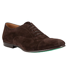 Buy BOSS Makkio Suede Oxford Shoes, Dark Brown Online at johnlewis.com