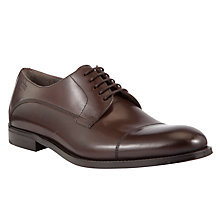 Buy BOSS Desavio Leather Derby Shoes, Dark Brown Online at johnlewis.com