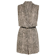 Buy Oasis Snake Print Playsuit, Multi Online at johnlewis.com
