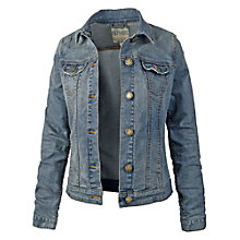 Buy Fat Face Portobella Mid Denim Jacket, Denim Online at johnlewis.com